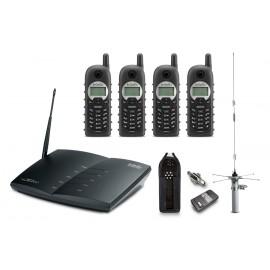 DURAFON PRO-PIB20L - Durafon Pro Bundle, 4 handsets w/ext ant